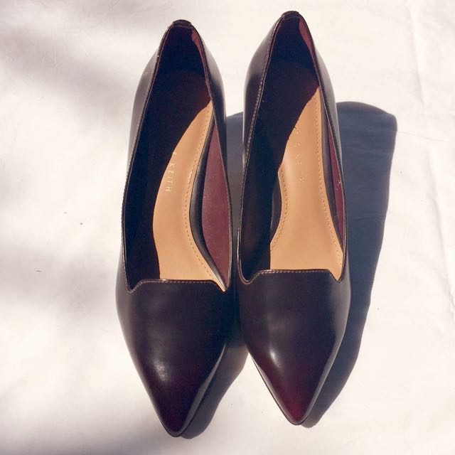 Charles And Keith Brown Classic Heels