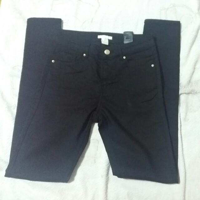 H&M 黑色緊身褲