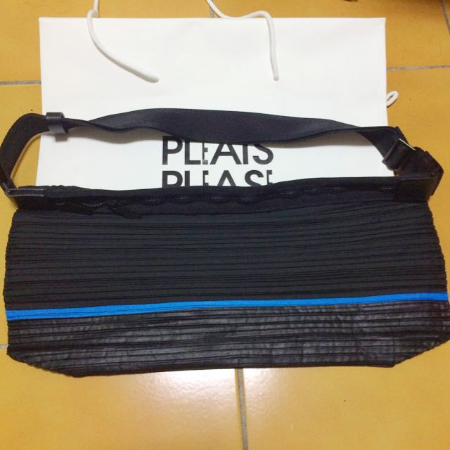 Issey Miyake Pleats Please設計款皺摺斜背包