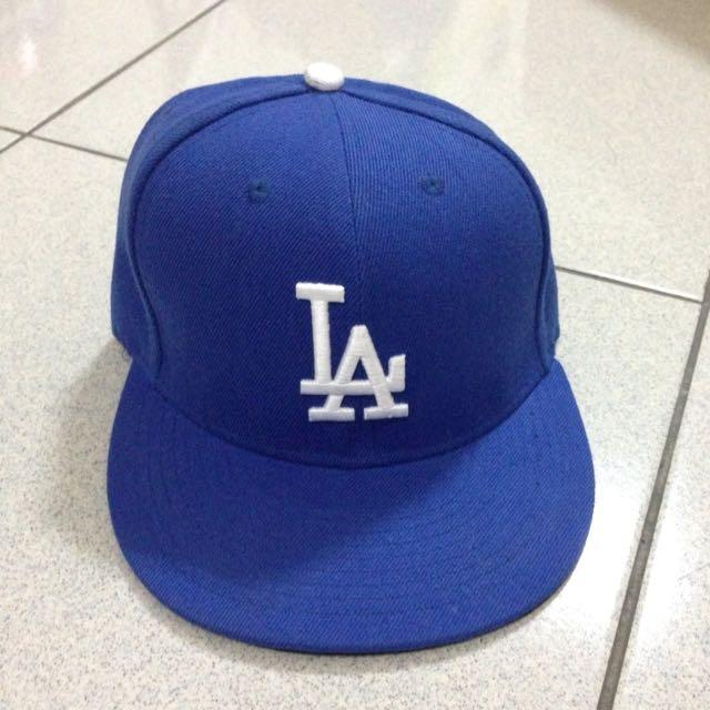 LA棒球帽 7號 藍色