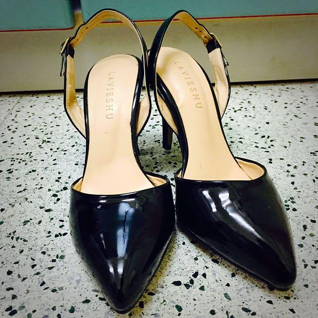 Lady Mint💕黑色尖頭低跟鞋 36號
