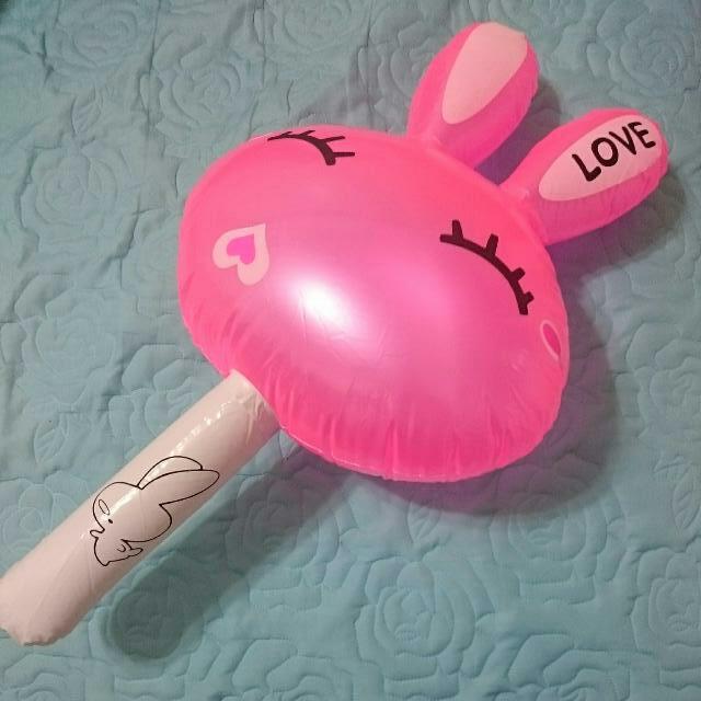 【贈品】粉紅love 兔造型充氣玩具棒