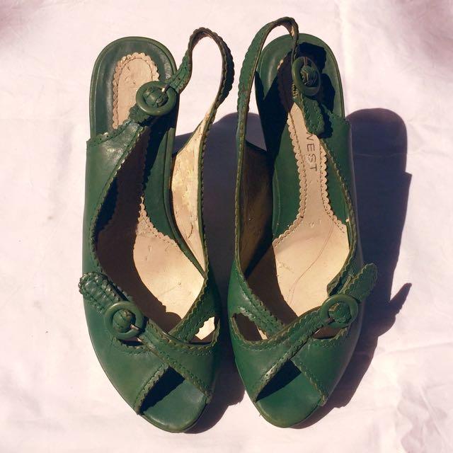 Nine West Green High Heels