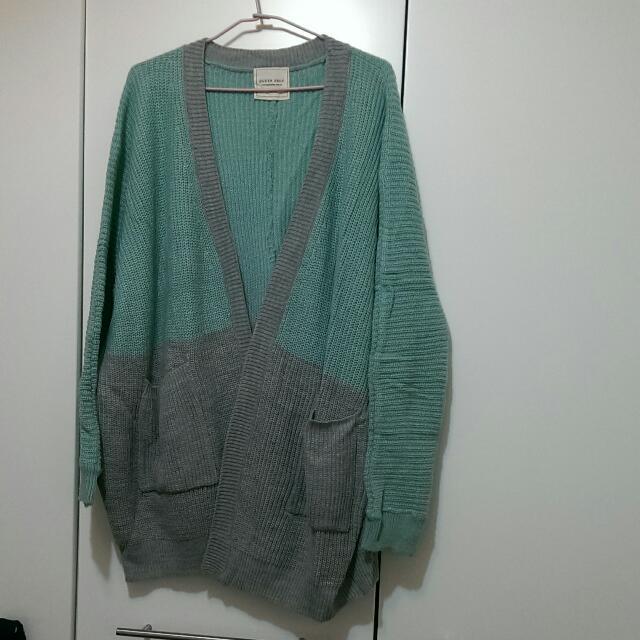【降降降📣免運🎉全新】轉賣QS 撞色毛衣外套