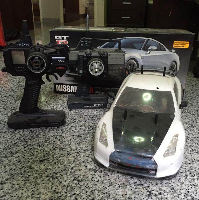 Nissan GTR RC Car TT-01 Type E, Toys & Games on Carousell