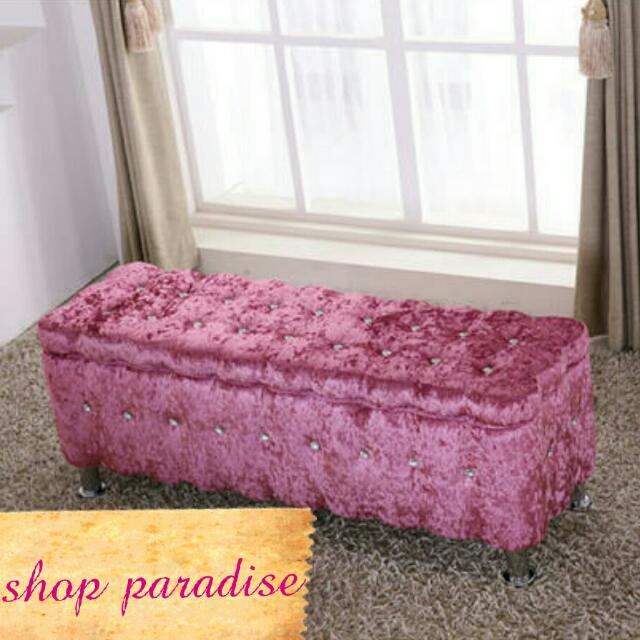 Victorian Style Crystal Bench W Storage, Furniture on Carousell