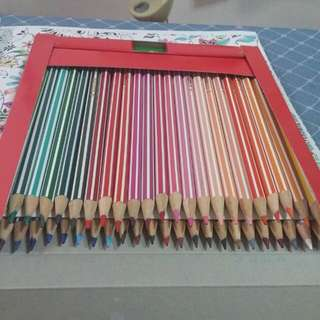 (reserved) Used- Stabilo Coloured Pencils -48 Pcs