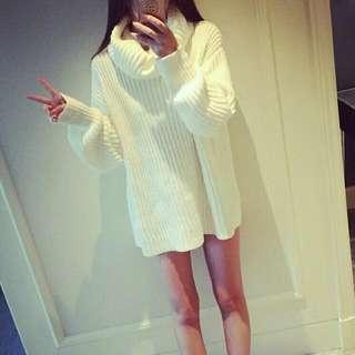 🚚 熱銷!! 寬鬆感秋冬粗針織長版毛衣