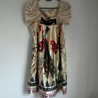 Preloved Similar Satin Material Dress