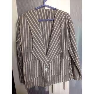 西裝外套 薄外套 直條紋 外套