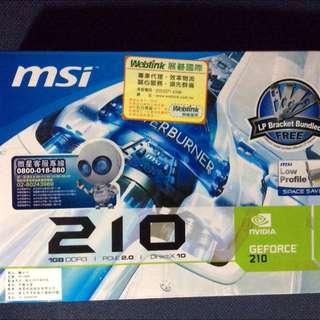 免運降價!🌟微星 Msi 210 1GB DDR3 顯示卡