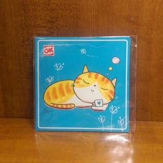 貓小P-冰箱吸鐵杯墊