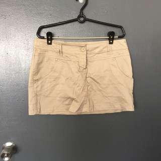 Pre-loved Mango Khaki Short Skirt
