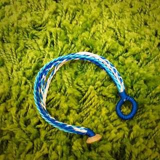 藍色系編織手飾