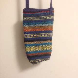 民族風編織水壺袋