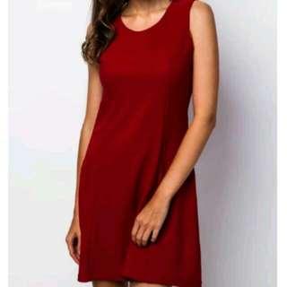 Something Borrowed Back Detailing Red Dress