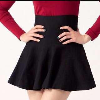 全新 黑 針織 高腰短裙💄