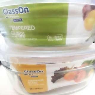 Glasslock 微波強化玻璃保鮮盒(全新