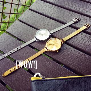[WOW!] 歐美簡約金屬圓盤錶