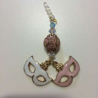 2 Face drama Face Mask With Indian Bead Handphone charm