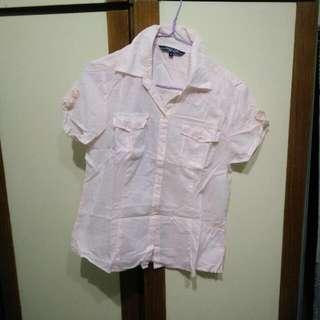 Hang Ten 粉色短袖襯衫