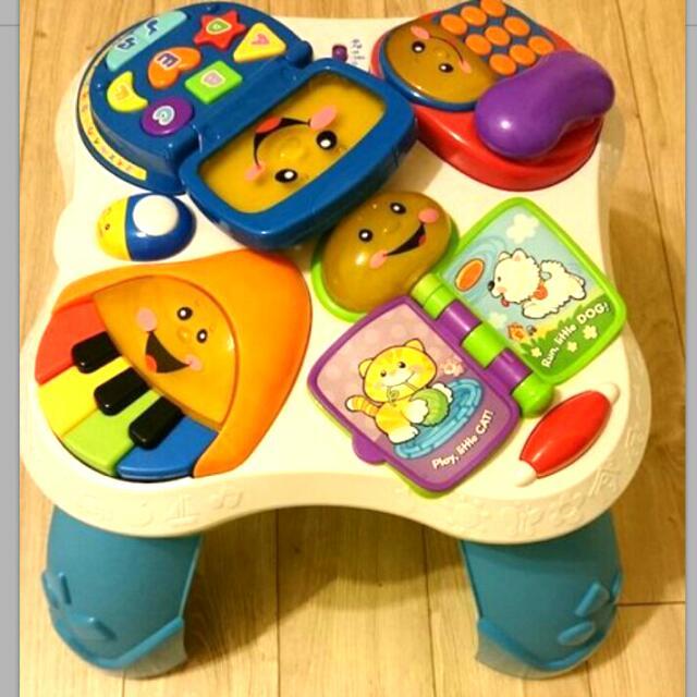費雪寶寶學習桌遊戲桌雙語版