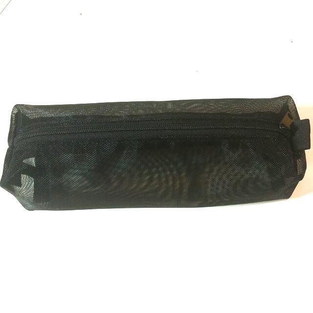 (保留中)無印良品黑色網狀鉛筆盒