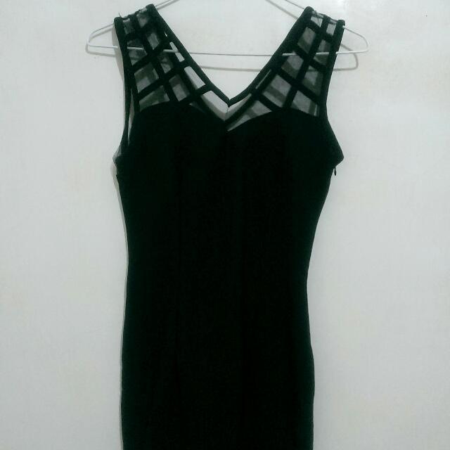 全新夜店風黑色貼身洋裝