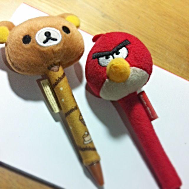 拉拉熊、憤怒鳥正版原子筆