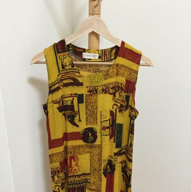 (待寄)埃及圖騰洋裝