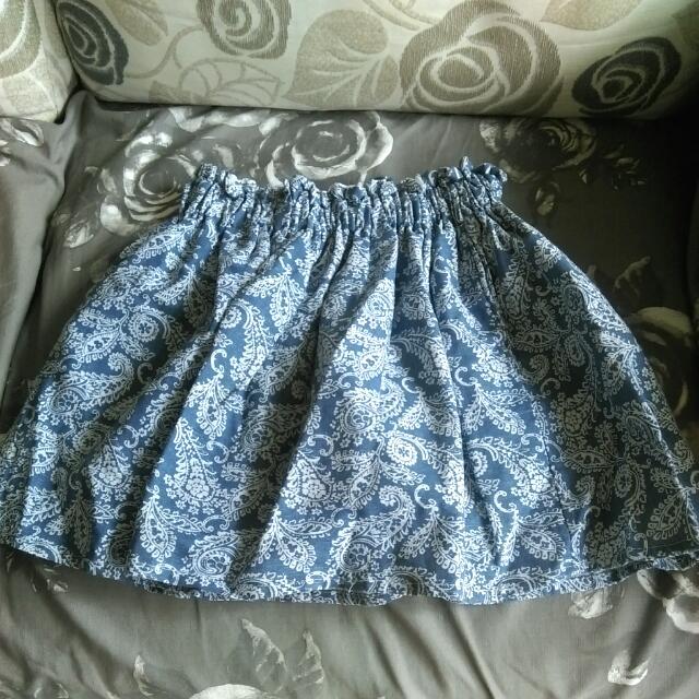 免運 淺藍短裙