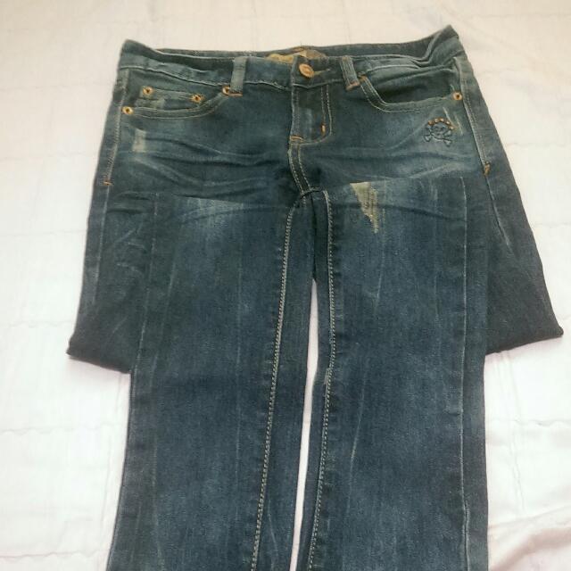 二手 S號 深藍色牛仔褲