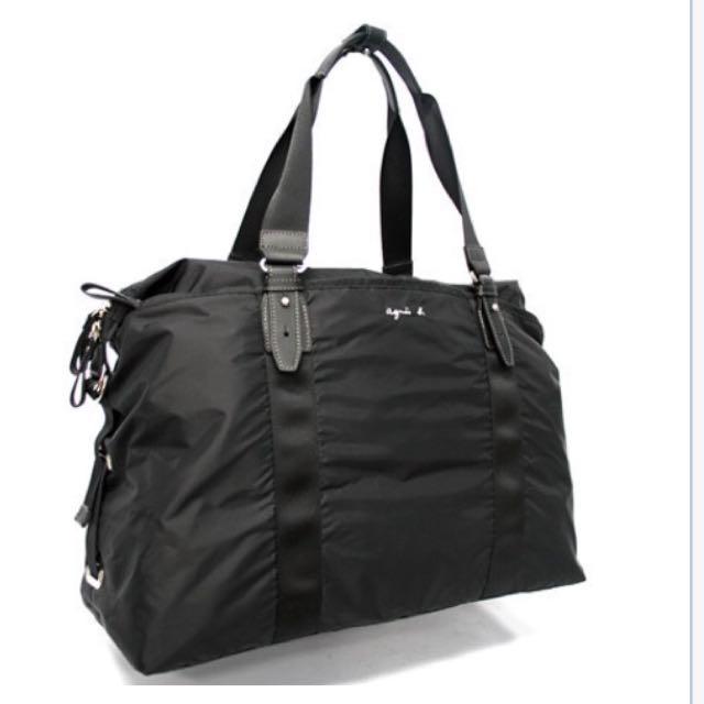 Agnes b. [全新吊牌在]超大尼龍旅行提袋