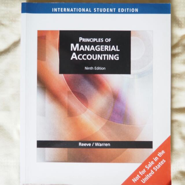 the principles of accounting managerial accounting