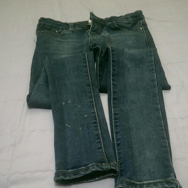 two Do 超顯瘦牛仔褲 S號