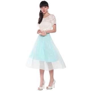 Love Bonito Floriana Midi Flare Skirt