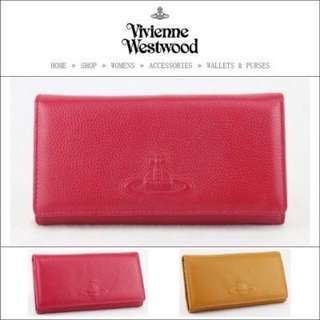 Vivienne Westwood土星壓印 羊皮紋 長夾