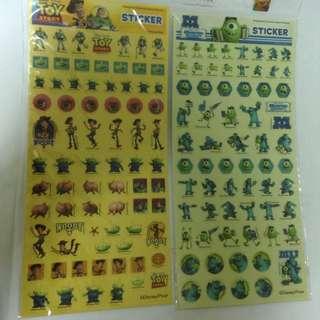 怪獸大學&玩具總動員貼紙
