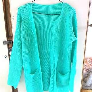 全新  蘋果綠針織外套