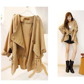 韓系寬鬆抽帶風衣