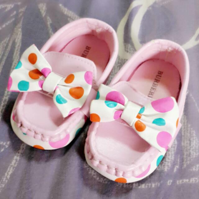 可愛粉點小皮鞋12.5