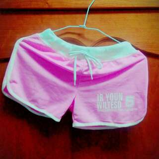 短棉褲 粉色