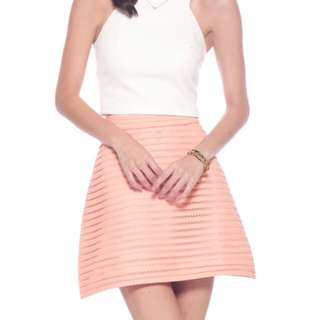 Love Bonito Selena Crochet Skirt (Coral)