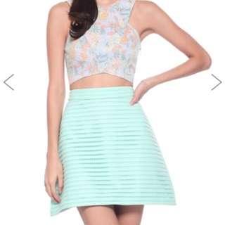 Love Bonito Selena Crochet Skirt (Mint)