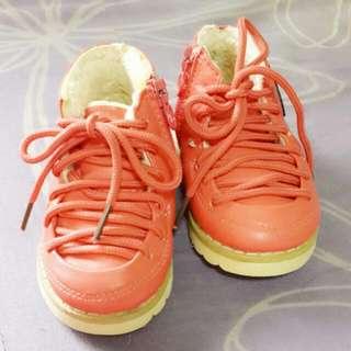 內鋪毛橘色童短靴13