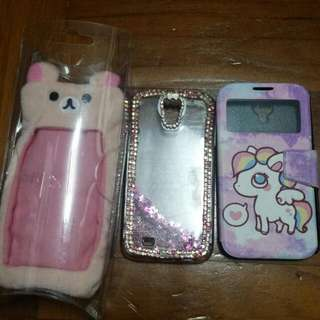 Samsung Galaxy S4 Hard Cover Case And Cushion Case