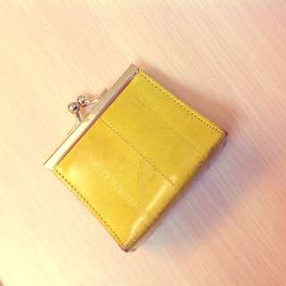 🚚 韓製 港味 薑黃方形零錢包