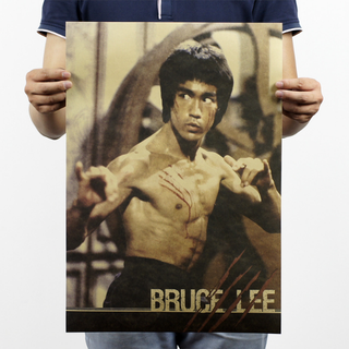 李小龍 Bruce Lee 牛皮紙海報
