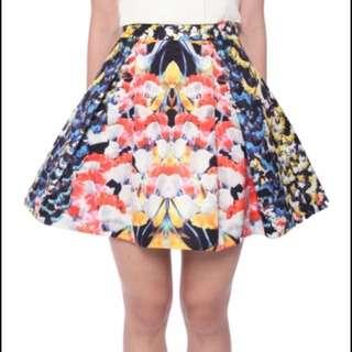 Love Bonito Covet Printed Flare Skirt