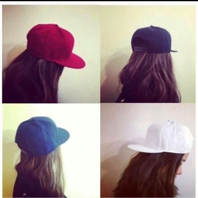 素色棒球帽(白)